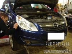 Opel Corsa ремонт переднего бампера