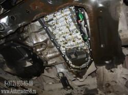 Nissan Qashqai MR20DE ремонт радиатора акпп, замена масла и фильтра в акпп
