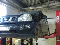Nissan X-Trail ремонт передней части подвески