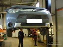 Mitsubishi Outlander установка противотуманных фар