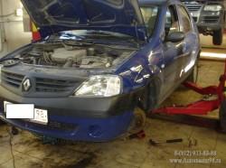 Renault Logan двигатель 1.4 (K7J 710) замена комплекта ГРМ