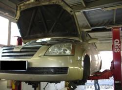 Chery Fora A21 ремонт тормозной системы, замена комплекта сцепления