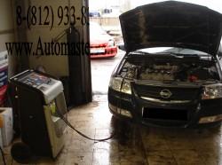 Nissan Almera заправка кондиционера