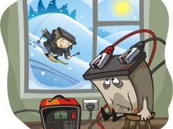 Аккумулятор и автомобиль зимой