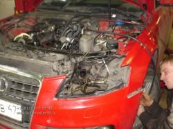 Audi A4 ремонт ГБЦ и замена цепей ГРМ двигателя CDHB