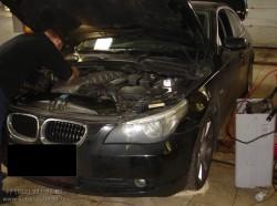 Замена катализатора на пламя гаситель в BMW 530 N52