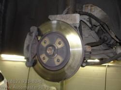 Citroen C5 замена тормозных дисков и колодок