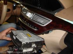 Mercedes S350 ремонт головного устройства COMMAND