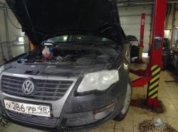 VW Passat двигатель CAXA замена цепей ГРМ